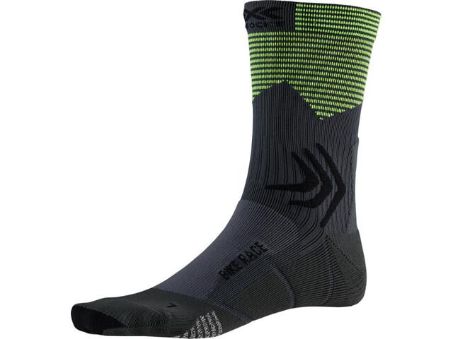 X-Socks Bike Race Socks charcoal /phyton yellow